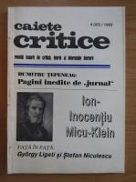 Anticariat: Revista Caiete Critice, nr. 4 (65), 1993