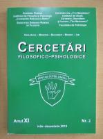 Revista Cercetari filosofico-psihologice, anul XI, nr. 2, iulie-decembrie 2019