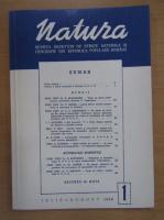 Revista Natura, nr. 1, iulie-august 1949