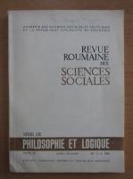 Anticariat: Revue Roumaine des Sciences Sociales, tomul 28, nr. 3-4, iulie-decembrie 1984