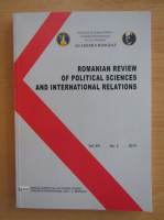 Anticariat: Romanian Review of Political Sciences and International Relations, volumul XVI, nr. 2, 2019