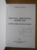 Anticariat: Serban N. Nicolau - Tratatul aristotelic despre cer (cu autograful autorului)