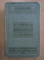 Anticariat: A. Lacassagne - Precis de medecine legale