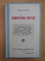 Cora Valescu - Comentarii critice