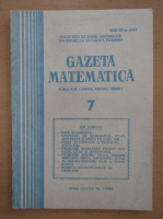 Anticariat: Gazeta Matematica, anul LXXXIX, nr. 7, 1984