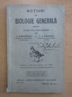 Anticariat: I. Simionescu - Notiuni de biologie generala pentru clasa VII-a secundara