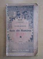 Anticariat: I. Simionescu - Sate din Romania