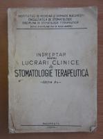 Anticariat: Indreptar pentru lucrari clinice de stomatologie terapeutica