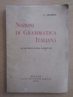 Anticariat: L. Vigorita - Nozioni di grammatica italiana