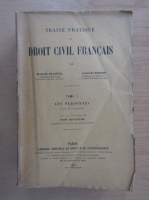 Anticariat: Marcel Planiol - Traite Pratique de Droit Civil Francais (volumul 1)