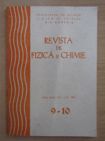Anticariat: Revista de fizica si chimie, anul XXVII, nr. 9-10, septembrie-octombrie 1990