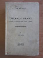 Titu Maiorescu - Insemnari zilnice (volumul 2)
