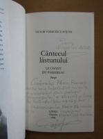 Anticariat: Victor Voinicescu-Sotchi - Cantecul lastunului (cu autograful autorului)