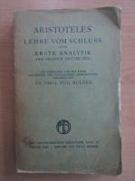 Anticariat: Aristoteles Lehre Vom Schluss