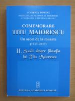 Anticariat: Comemorare Titu Maiorescu (volumul 2)