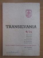 Anticariat: Revista Transilvania, anul VII, nr. 4, 1978