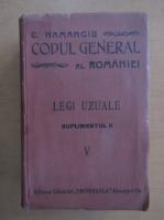 Anticariat: C. Hamangiu - Codul General al Romaniei (volumul 5, suplimentul II)