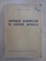 D. Popovici - Controlul alimentelor de origine animala