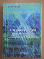 Doina Rusti - Literatura romana pentru examene