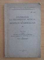 Anticariat: Paul I. Serbanescu - Contributiuni la tratamentul medical al anexitelor netuberculoase