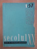 Revista Secolul XX, nr. 1, 1957