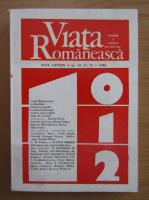Anticariat: Revista Viata Romaneasca, anul LXXXIV, nr. 10, 11, 12, 1989