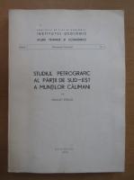 Anticariat: Sergiu Peltz - Studiul petrografic al partii de sud-est a Muntilor Calimani