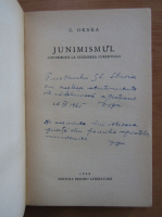 Anticariat: Zigu Ornea - Junimismul (cu autograful autorului)
