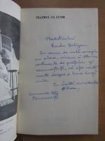 Anticariat: Amza Saceanu - Teatrul ca lume (cu autograful autorului)