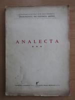 Analecta (volumul 3)