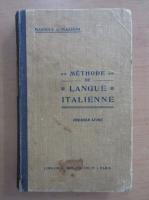 Anticariat: Henry Massoul - Methode de langue italienne (volumul 1)