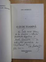 Anticariat: Ion Andreita - O zi de toamna (cu autograful autorului)
