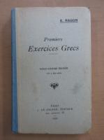 Anticariat: E. Ragon - Premiers Exercices Grecs