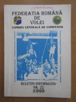 Anticariat: Federatia Romana de Volei. Buletin informativ, nr. 22, 1996