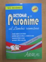 M. E. Iacobescu - Dictionar de paronime al limbii romane