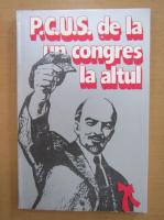 Anticariat: P. C. U. S. de la un congres la altu