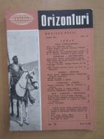 Anticariat: Revista Orizonturi, anul VI, nr. 74, iulie 1957