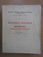Anticariat: G. Tasca - Politica sociala a Romaniei