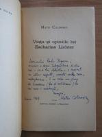 Anticariat: Matei Calinescu - Viata si opiniile lui Zacharias Lichter (cu autograful autorului)