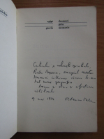 Anticariat: Octavian Paler - Drumuri prin memorie. Egipt, Grecia (cu autograful autorului)