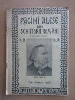 Pagini alese din scriitori romani, nr. 199