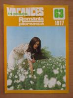 Anticariat: Revista Vacances en Roumanie, nr. 63, 1977