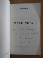 Ana Simion - Marioneta (cu autograful autorului)