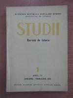 Anticariat: Studii. Revista de istorie, anul IX, nr. 1, 1956