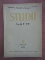 Anticariat: Studii. Revista de istorie, anul IX, nr. 6, 1956
