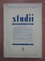 Studii. Revista de istorie, anul XII, nr. 2, 1959