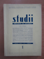 Studii. Revista de istorie, anul XIII, nr. 1, 1960