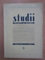 Anticariat: Studii. Revista de istorie, anul XIII, nr. 6, 1960