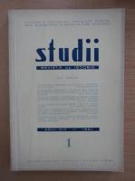 Studii. Revista de istorie, anul XIV, nr. 1, 1961