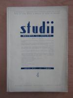 Studii. Revista de istorie, anul XV, nr. 4, 1962